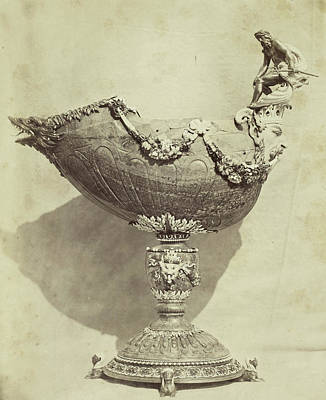 Louvre Drawing - Shell-shaped Bowl With Mansculptuur, From The Louvre by Artokoloro