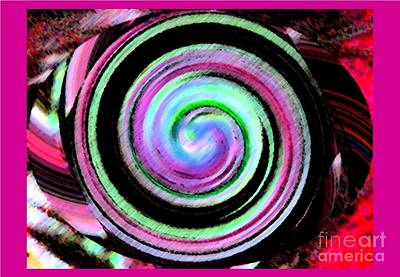 Art Print featuring the digital art Shell Shocked Frame by Catherine Lott