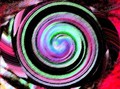Art Print featuring the digital art Shell Shocked Unframed by Catherine Lott