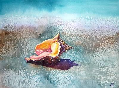 Painting - Shell by Zaira Dzhaubaeva
