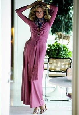 Photograph - Shelley Smith Wearing Gloria Castaldo Pajamas by Arthur Elgort