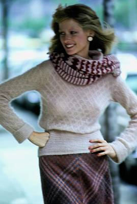 Photograph - Shelley Smith Wearing Missoni by Arthur Elgort