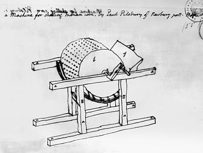 Shelling Machine Art Print by Granger