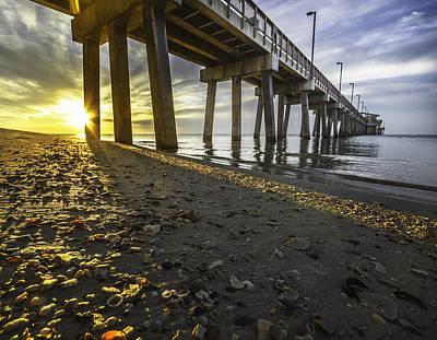 Digital Art - Shells Under The Pier by Michael Thomas