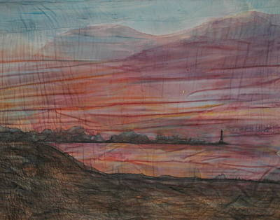 Beach Sunset Mixed Media - Shelter From The Storm by Pam Reed