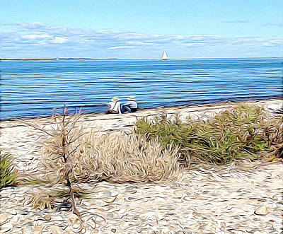 Shelter Island Beach Art Print