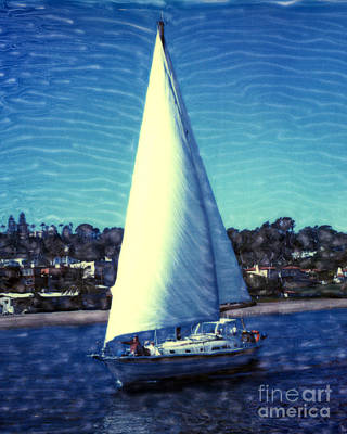 Photograph - Shelter Island Sailing by Glenn McNary