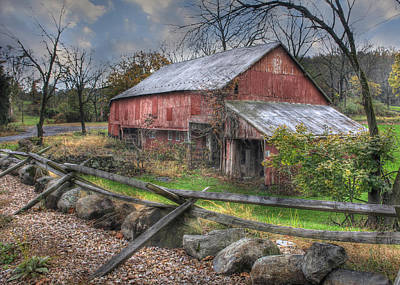 Red Barns Photograph - Shelter by Lori Deiter
