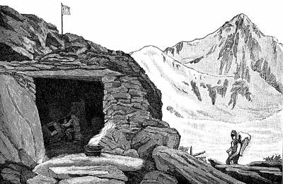 1807 Photograph - Shelter On Aar Glacier by Universal History Archive/uig