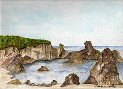 Painting - Sheltered Cove by Tamyra Crossley