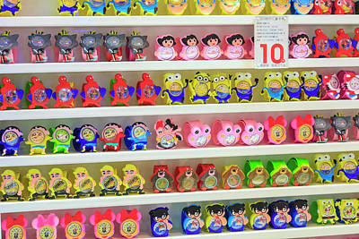 Shelves Of Children Toys, Shops Art Print by Stuart Westmorland
