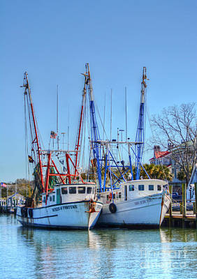 Photograph - Shem Creek Shrimp Boats by Kathy Baccari
