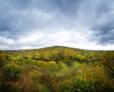 Beauty Mark Photograph - Shenandoah River Panorama by Mark Andrew Thomas
