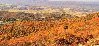 Shenandoah Valley In Autumn Print by Dan Sproul