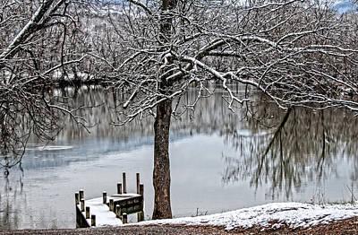 Peaceful Scene Photograph - Shenandoah Winter Serenity by Lara Ellis