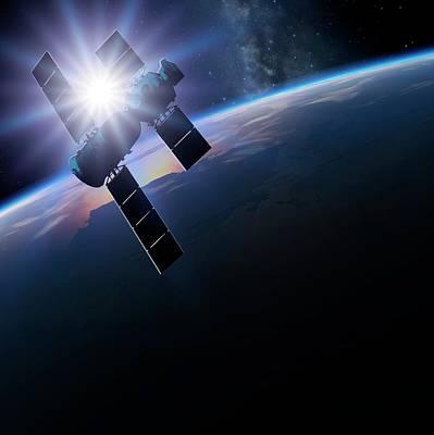 Curvature Photograph - Shenzhou 5 In Orbit by Detlev Van Ravenswaay