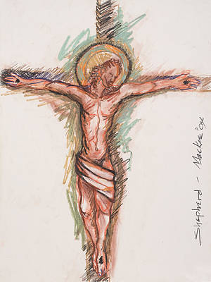 Crucifixtion Mixed Media - Shepherd by Deryl Daniel Mackie