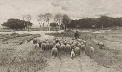 Herding Dog Drawing - Shepherd, Elias Stark by Elias Stark