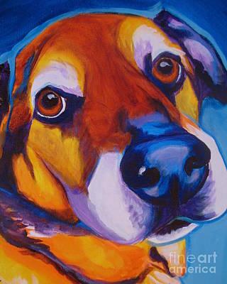 Shepherd Mix - Dundas Art Print by Alicia VanNoy Call
