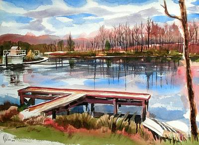Shepherd Mountain Lake In Winter Original by Kip DeVore