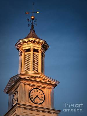 Photograph - Shepherd University - Mcmurran Clock Tower At Twilight by Julia Springer