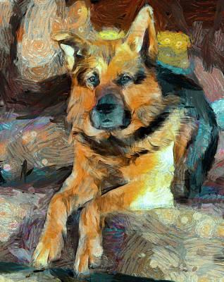 House Pet Digital Art - Shepherd by Yury Malkov