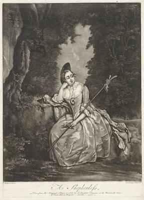 Shepherdess, Andreas Van Der Myn, John Boydell Art Print