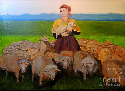 Philippines Painting - Shepherdess Of The South by Ferdz Manaco