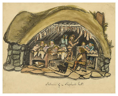 Middle Ages Drawing - Shepherds Hut Iceland Circa 1962 by Aged Pixel