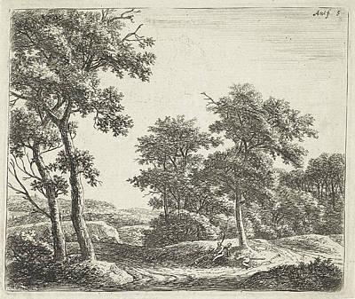 Herding Dog Drawing - Shepherds Resting Under A Tree, Anthonie Waterloo by Anthonie Waterloo