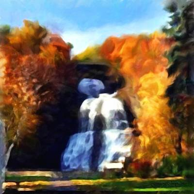 Shequaga Falls Art Print by Gregory Damian Green
