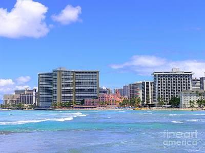 Mellow Yellow - Sheraton and Royal Hawaiian View by Mary Deal