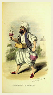 Sherbet Seller, Damascus And Palmyra Art Print by Litz Collection