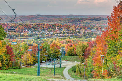 Photograph - Sherbrooke From Mt Bellevue In Autumn by Pierre Leclerc Photography