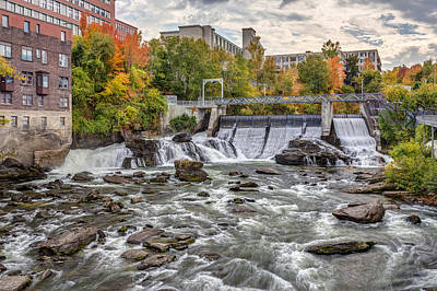 Photograph - Sherbrooke Magog River Dam by Pierre Leclerc Photography