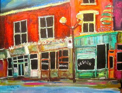 Molsons Beer Painting - Sherbrooke Street West by Michael Litvack