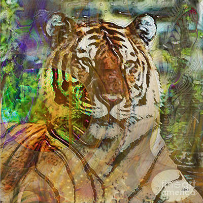 Digital Art - Shere Khan - Square Version by John Beck