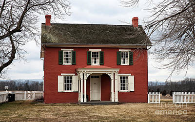 Red School House Photograph - Sherfy House by John Rizzuto