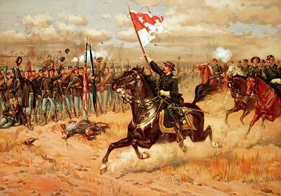 Armed Forces Painting - Sheridan Riding by American School