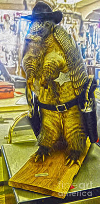 Painting - Sheriff Armadillo by Gregory Dyer