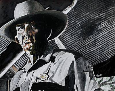 Cop Painting - Sheriff Hoyt by Jeremy Moore
