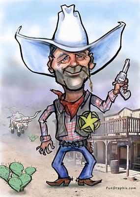 Cowboy Digital Art - Sheriff by Kevin Middleton