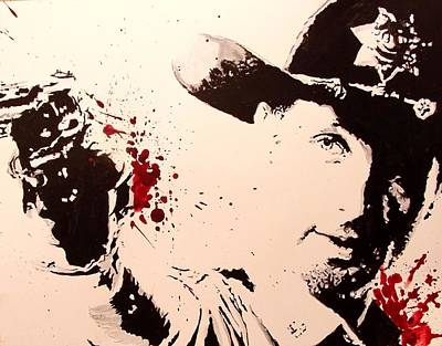 Sheriff Rick Grimes  Art Print by Lauren Anne