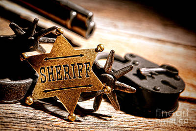 Medallion Photograph - Sheriff Tools by Olivier Le Queinec