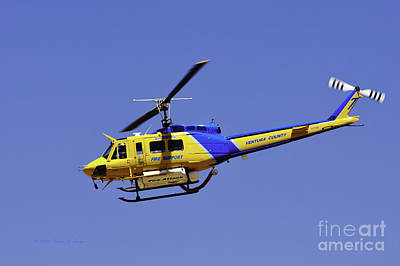 Photograph - Sheriff's Fire Support Helicopter by Richard J Thompson