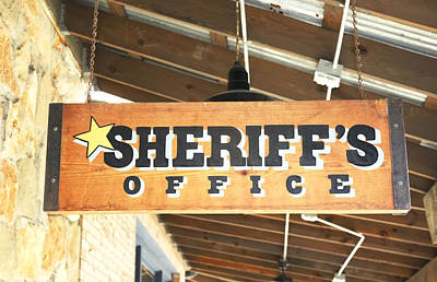 Photograph - Sheriff's Office by Lynnette Johns