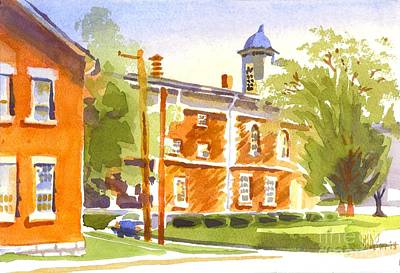 Sheriffs Residence With Courthouse II Original by Kip DeVore