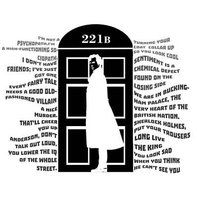 Sherlock 221b Art Print by Nino Mchedlidze
