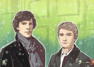 Sherlock And Watson Art Print by Akyanyme