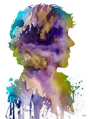 Sherlock Holmes Painting - Sherlock Holmes 2 by Watercolor Girl